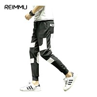 Reimmu Casual Pants Men Plus Size 5XL Fashion Brand-Clothing Male Trousers Male Clothes Hip Hop Pants Black Trousers Men Sale
