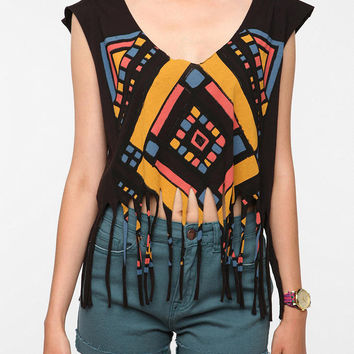 Title Unknown Cropped Fringe Tee