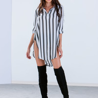 Sheer 2 Believe Striped Shift Dress