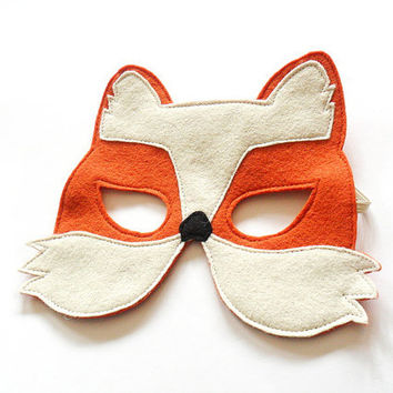 Fox Children Carnival Mask Kids Costume Accessory, Dress up Pretend Play Toy for Girls Boys and Toddlers