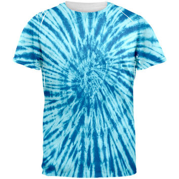 Blue Tie Dye All Over Adult T-Shirt