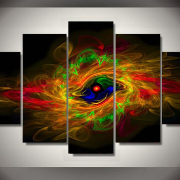 Oracle Eye Psychedelic 5-Piece Wall Art Canvas