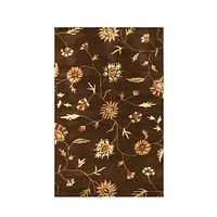 Brown Transitional Modern Floral Rug