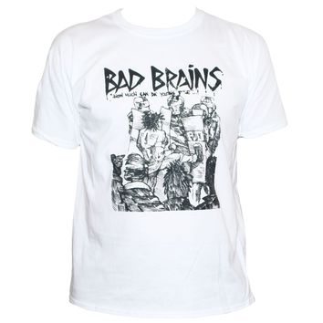 Bad Brains Punk Rock T Shirt Fugazi Black Flag Unisex Men T-Shirt Tops Short Sleeve