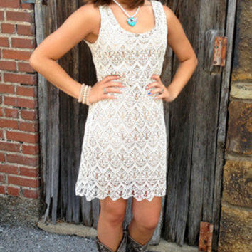 Summer Lovin' Dress | Lace Dress | Country Concert Dress | Adorable Lace