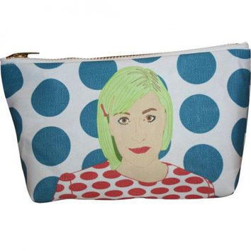 Lena Dunham Pop Zipper Pouch and Makeup Bag – Illustrated and Handmade in the USA