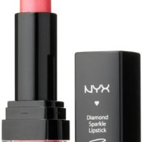 NYX Cosmetics Diamond Sparkle Lipstick, Sparkling Red, 0.15 Ounce