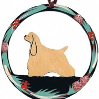 American Cocker Spaniel Metal Christmas Ornament