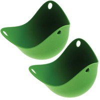Fusionbrands Set of 2 Silicone Poach Pods - Green