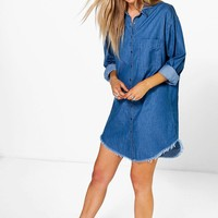 Ava Oversized Boyfriend Denim Shirt Dress