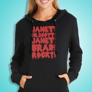 Rocky Horror Picture Show Janet Brad Dr Scott Frank N Furter Horror Musical Movie Women'S Hoodie