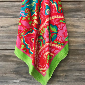 Vera Bradley Beach Towel, Paisley in Paradise, Monogram Towel, Beach Towel, Towel, Graduation Gift, Personalized Gift, Monogram Beach towel