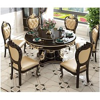 Classical Style Flower Pattern Dining Table