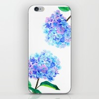 blue purple hydrangea iPhone & iPod Skin by Color And Color