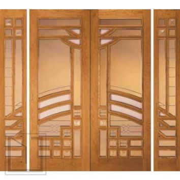 jeld-wen 268 Cherry Doors and Sidelights Clear Finish