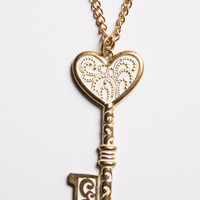 Key to My Heart Pendant Necklace