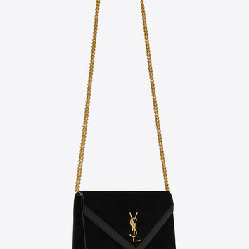 LE SEPT chain bag in black suede