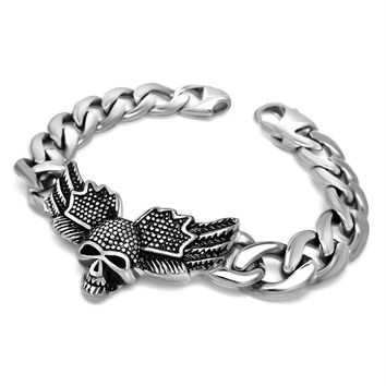 New Arrival Gift Awesome Great Deal Shiny Hot Sale Men Titanium Accessory Punk Stylish Chain Bracelet [6526750915]