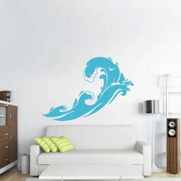 Wall Vinyl Sticker Decals Decor Art Bedroom Design Mural  Ocean Water Beach Wind (z2986)
