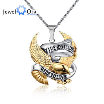 Unique Birthday Gift Trendy Stainless Steel Eagle Punk Pendant Cool Men Pendant & Necklace Party Accessories