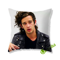 Matt Healy The 1975 Square Pillow Cover