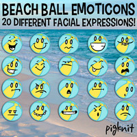Beach Ball Emoticons, Beach Ball Clip Art, Summer Vacation Art, Facial Expressions, School Clip Art, School Download, Smiley Face Clip Art