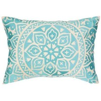 Capri Turquoise Throw Pillow
