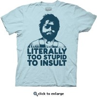 The Hangover Alan Literally Too Stupid To Insult Light Blue Adult T-shirt  - The Hangover  - Free Shipping on orders over $60 | TV Store Online