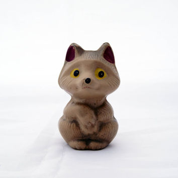 Vintage Soviet era rubber fox toy