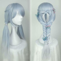Lolita Silver Blue Long Wig sold by Moooh!!