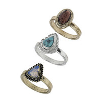 SEMI PRECIOUS STONE RING PACK