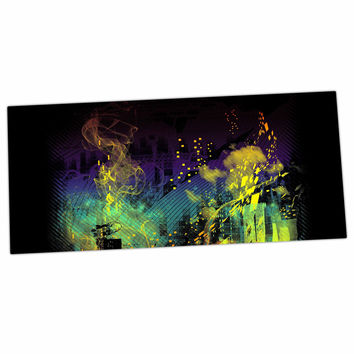"Federic Levy-Hadida ""City Grid"" Black Rainbow Desk Mat"