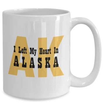 Heart In Alaska - 15oz Mug