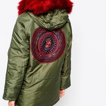 Native Rose Peace And Music Parka