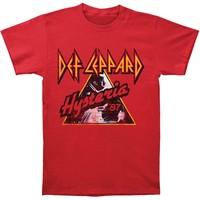 Def Leppard Men's  Hysteria '87 T-shirt Red