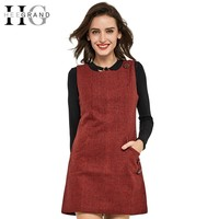 Women Dress O-Neck  Autumn Casual Dresses.