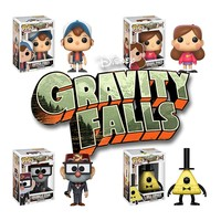 Funko Pop Disney Gravity Falls Dipper 12373.74.75.76 Set of 4