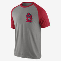 The Nike Tri-Blend Raglan 1.3 (MLB Cardinals) Men's T-Shirt.