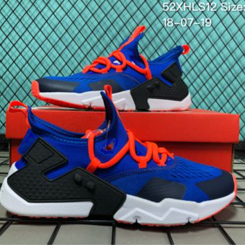 DCCK N024 Nike Air Huarache 6 Drift 2018 Kint Fashion Running Shoes Blue Orange
