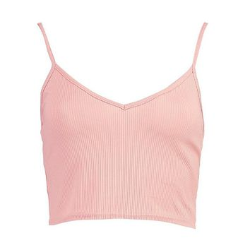 Basic Ribbed Bralet | Boohoo