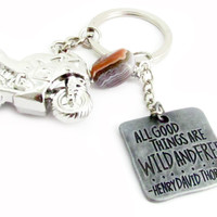 Motorcycle Keychain, Biker Keychain, Quote Keychain, Gift for Biker, Motorcycle Accessory, Guy's Keychain, Gift for Men