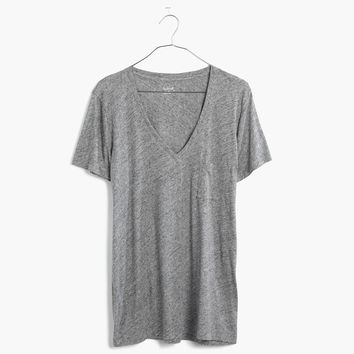 Whisper Cotton V-Neck Pocket Tee : | Madewell