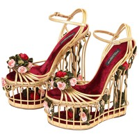 Very rare Dolce & Gabbana Runway Cage Heel Shoes Piece of Art!