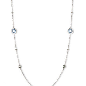 Judith Jack Sterling Silver and Mixed Stone Chain Necklace