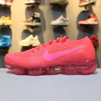 Nike Air VaporMax Flyknit 849557-604 Pink Sport Running Shoes - Best Online Sale