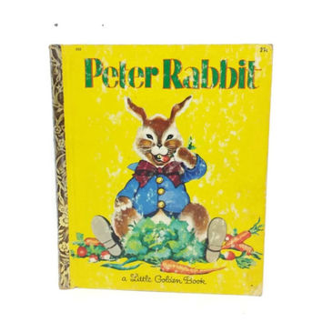 The Tale of Peter Rabbit, Beatrix Potter,Vintage Little Golden Book, Vintage Childrens Book, Easter Display, Bunny Illustration, Kitsch