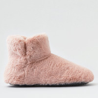 AEO Fur Slipper Bootie , Blush