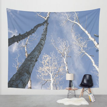 Forest Wall Tapestry, Aspen Trees, Nature Decor, Flagstaff, Forest Wall Hanging, Scenic Tapestry, Large Wall Art, Birch Forest, Aspen Forest