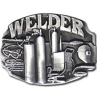 Sports Accessories - Welder Tools Antiqued Belt Buckle
