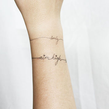 X O Temporary Tattoo Wrist Valentines From Pepper Ink Found